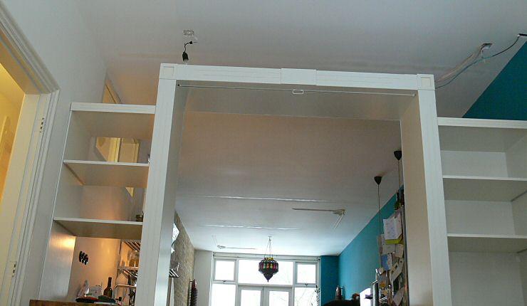 Roomdevider In Woonkamer : Kast op maat roomdivider door timmerman in rotterdam
